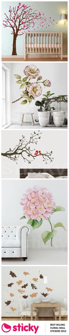STICKY - Our most popular FLORAL wall stickers for 2013 based on sales!