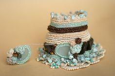 Crochet el pun o con anillo de ganchillo ámbar por ellisaveta