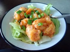 Bang Bang Shrimp - Copycat from Bonefish Grill from Food.com:   								We had these at Bonefish Grill. They are a great app. Since then, I have been trying many recipes looking for one that tastes close. This is the best that I have found. Sometimes I fix these and just serve with a salad for lunch - very delisious!
