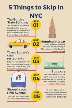 NYC is full of fun things to do, but it's also full of tourist traps. Here's a list of the things you should skip in New York and what you should do instead during your NYC trip. Usa Travel, Travel Tips, Travel Destinations, Souvenir Store, Vegas Fun, Tourist Trap, Shiloh, Guide Book, Plan Your Trip
