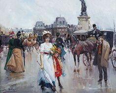 В полный размер F Pictures, Masquerade, Victorian, Cabriolet, Image, Paintings, Oil, Belle Epoque, Paint