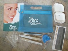 Zero peroxide teeth whitener promises visible results in as little as 20 minutes...