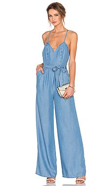 Shop for Lovers + Friends Sunshine Jumpsuit in Ocean at REVOLVE. Free day shipping and returns, 30 day price match guarantee. Denim Fashion, Look Fashion, Fashion Design, Latest Fashion Clothes, Fashion Outfits, Casual Outfits, Cute Outfits, Designer Jumpsuits, Mode Jeans