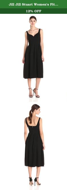 Jill Jill Stuart Women's Fitted Stretch Crepe Gown with Open Back, Black, 0. Show off your best assets in this form fitting dress. The halter cut neckline highlights beautiful shoulders and artfully cut open back hints at a bit of skin. Top lined in self fabric. Invisible zippers with hook and eye on top.