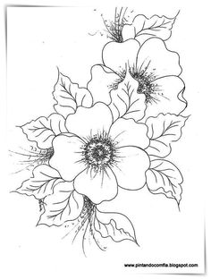 use for embroidery, décor on painted surfaces, pyrography, etc Fabric Painting, Painting & Drawing, One Stroke Painting, Coloring Book Pages, Digi Stamps, Pyrography, Colorful Flowers, Embroidery Patterns, Paper Embroidery