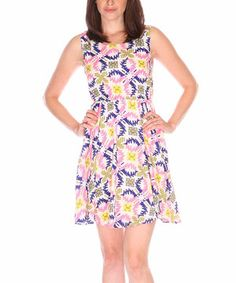 Another great find on #zulily! Fuchhi Style Pink & Purple Ikat Sleeveless Dress by Fuchhi Style #zulilyfinds