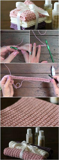 Crochet Granite Stitch Pattern – Easy Tutorial #crochetstitches