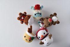 Free crochet amigurumi patterns, christmas collection Crochet Toys, Crochet Amigurumi Free Patterns, Crochet Ornament Patterns, Christmas Crochet Patterns, Crochet Christmas Ornaments, Holiday Crochet, Christmas Knitting, Crochet Gifts, Crochet Animals