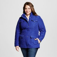 Women's Plus Size Quilted Jacket - Casual