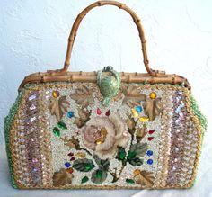 Vintage Purse very Ornate by ShopGlammasAttic on Etsy, $35.00