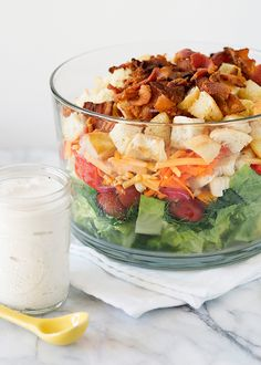 kansas chopped salad recipe with peppercorn ranch dressing