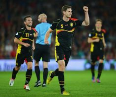 2014 FIFA World Cup nations | Jan Vertonghen celebrates his goal for Belgium in their 2-0 win in ...