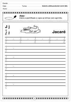 Atividades Letra J - Minuscula - Escola Educação