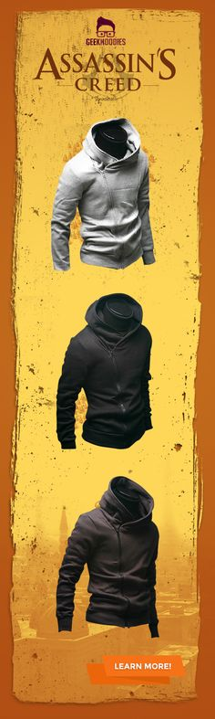 Assassin's Creed I #assassins #geek #hoodie Shop for more awesome hoodies here: http://geekhoodies.com/