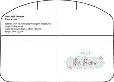 Araucarte Criações Artesanais: Bolsa bebê patchwork - Parte 1/2 Dipper Bag, Sewing Tutorials, Sewing Projects, Patchwork Baby, Bebe Baby, Frame Bag, Tips & Tricks, Free Sewing, Baby Quilts