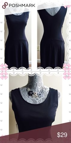 🌟Just In🌟 Black Sleeveless Dress NWT👗 Scoop neck & flowy dress. V-neck in back of dress. NWT. New York & Company Dresses