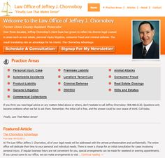 Webpage design for New Jersey lawyer. View more details at: http://sbmwebsitedesign.com/new-jersey-lawyer