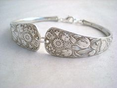 Antique Spoon Bracelet Upcycled Silverplate - Silverware Jewelry