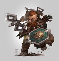 ArtStation - Pathfinder RPG: Dwarf, Hugh Pindur