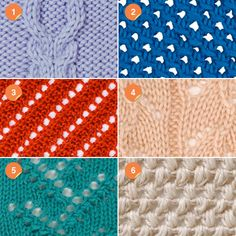 Learn how to knit different patterns.