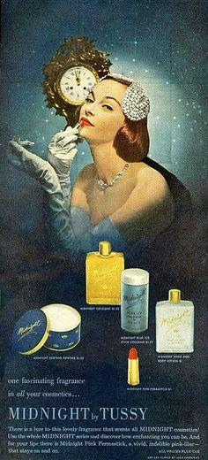 #makeup #ads #vintage #1950s #fifties #elegant #cosmetics #glamour #fashion