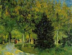 Lane In The Public Garden At Arles A - Vincent Van Gogh