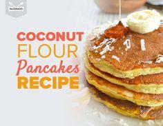 coconut flour pancakes title card