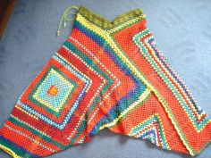 Strange Stylish Crazy Harem Pants Sarouels with pattern (lot of pictures) - CROCHET