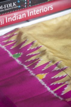 Handloom Pochampally Ikat silk saree hand-picked from rural India by Omnah