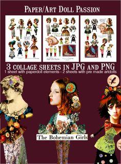 art doll paper dolls