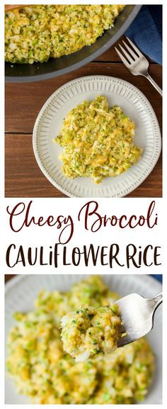 Cheesy Broccoli Cauliflower Rice - an easy keto side dish. Made with riced cauliflower, broccoli, and plenty of cheddar cheese, this low carb recipe is also naturally gluten free! | #dlbrecipes #lowcarb #keto #sidedish #ketosidedish Keto Side Dishes, Cauliflower Recipes, Broccoli Cauliflower, Low Carb Recipes, Whole Food Recipes, Low Carb Diet, Vegetable Recipes, Vegetarian Recipes, Ketogenic Diet
