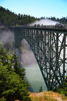 Deception Pass bridge, Whidbey Island, Washington.