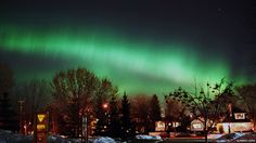 """""""Northern Lights illuminate the city of Edmonton, Alberta, Canada."""" Photo by Alfredo Leiva Places Around The World, Oh The Places You'll Go, Great Places, Places To Travel, Beautiful Places, Around The Worlds, Amazing Places, World Discovery, Travel Pictures"""