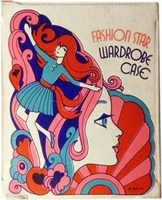 Fashion Star Wardrobe Case packaging 1960s