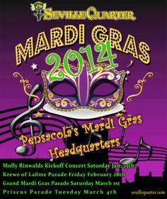 Seville Quarter pre & post Mardi Gras party is today! Fun starts 11am #sevillequarter #mardigras #upsideofflorida