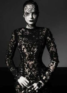Vogue Italia's Black Widow Couture