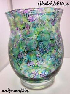 Sarah Jane's Craft Blog: Alcohol Ink Decorated Vase