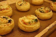Broccoli Cheese Pinwheels #kidfriendlyrecipes