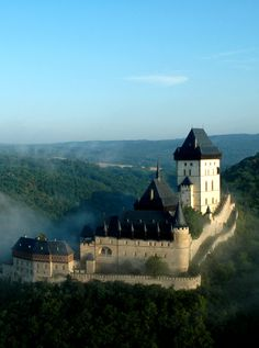 Karlův Týn (Karlštejn) gothic castle, the residence of its founder Charles IV, Czech king and Holy Roman Emperor (Central Bohemia), Czechia