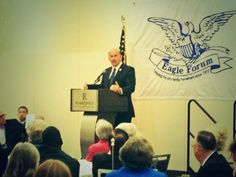 Listening to @replouiegohmert keynote #EagleCouncil. Love this guy-One of our stalwarts in Congress.