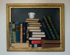 framed books on the wall by framedbooks on Etsy Old Books, Bookends, Recycling, Unique Jewelry, Handmade Gifts, Frame, Wall, Vintage, Etsy