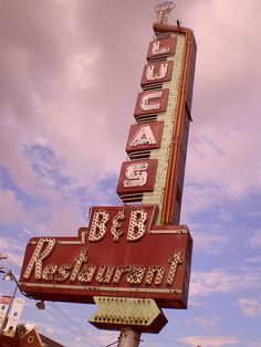 Old sign - Dallas--this was my family's go to restaurant when I was growing up. Especially good for late dessert after a movie or concert.