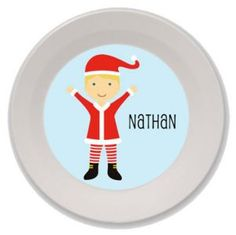 Personalized Christmas Bowls for Kids (Boy)