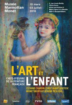 L'Art et L'Enfant au Musée Marmottan Monet. Affiche