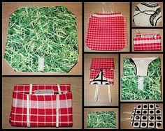 Mak your own Wrap-n-Mat. Looks handy and fun to make. Maak je eigen boterhamzakje-en-placemat-in-een. Lijkt me leuk 'n handig om te maken.