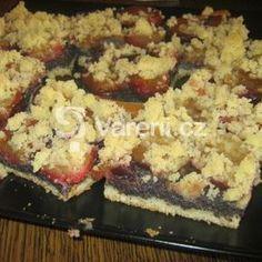 Švestkový kynutý koláč s mákem Kefir, Cauliflower, Grains, Food And Drink, Rice, Vegetarian, Sweets, Chicken, Meat