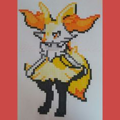 A Pixel Braixen by @tabaspixelword on Instagram Go and follow for more!