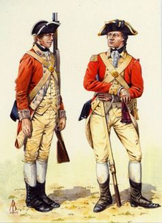 British; 27th (Inniskilling) Regiment of Foot, Private & Officer, c.1776 by A.Baker
