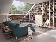 Bibliothèques sous les combles © Hulsta