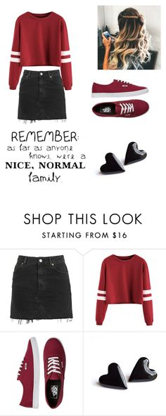 """""""Untitled #65"""" by loveroftoomanybooks on Polyvore featuring Topshop, Vans and WALL"""
